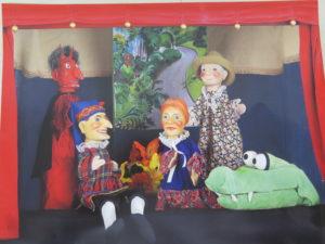 """Die Figuren für das Stück """"Der Kasper und das Märchenpuzzle"""""""